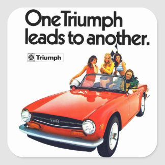 one Triumph leads to another TR6 Stickers