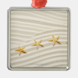 One unstraight row of starfishes christmas ornament