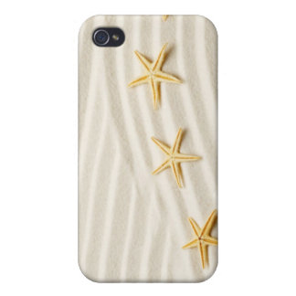 One unstraight row of starfishes iPhone 4/4S case