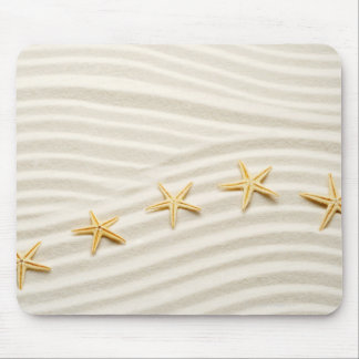 One unstraight row of starfishes mouse mat