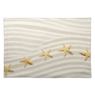One unstraight row of starfishes placemat