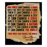 ONE VOICE-BARACK OBAMA -PST25x30 Posters