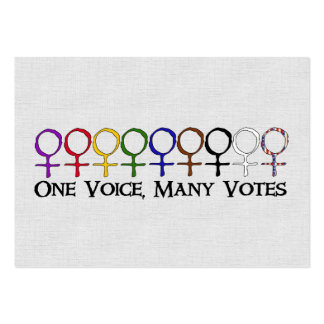 One Voice, Many Votes Pack Of Chubby Business Cards