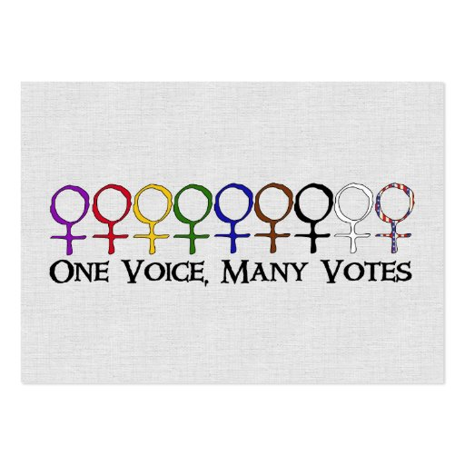 One Voice, Many Votes Business Card Templates