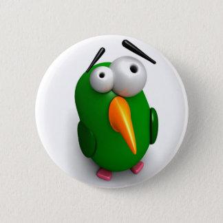 One Wacky Parrot 6 Cm Round Badge