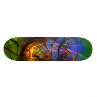 One Warm Feeling  - colorful digital abstract art Skate Deck