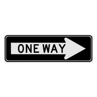 One Way Arrow (Right) Highway Sign Poster