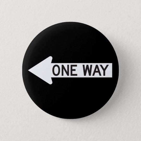 One Way Arrow Road Sign 6 Cm Round