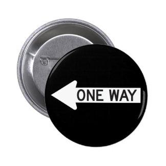 One Way Arrow Road Sign 6 Cm Round Badge