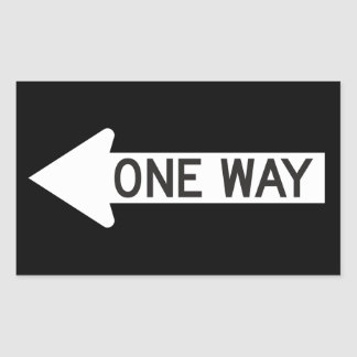 One Way Arrow Road Sign Stickers