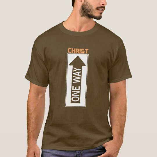 One Way-Christ Orange White T-Shirt