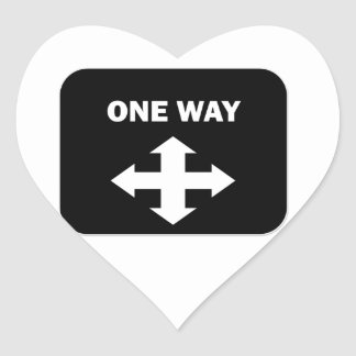 One Way Heart Sticker