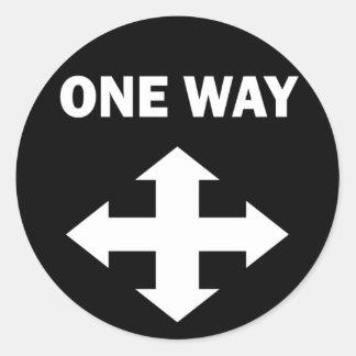 One Way Round Sticker