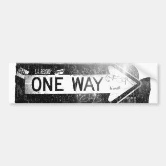 One Way Sign Bumper Sticker