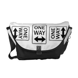 One Way Sign Humor Rickshaw Bags Messenger Bags