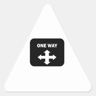One Way Triangle Sticker