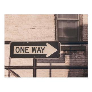 One Way Street Sign Postcard