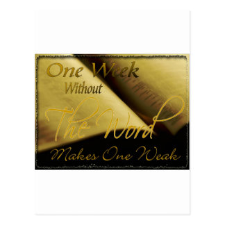One Week Without the Word Makes One Weak Postcard