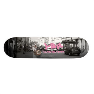One wheel robo 21.6 cm skateboard deck
