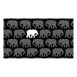 One White Elephant in a Herd Business Card Templates