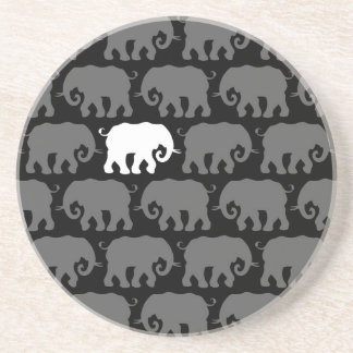 One White Elephant in a Herd Coasters