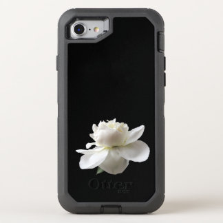 one white peony OtterBox defender iPhone 8/7 case