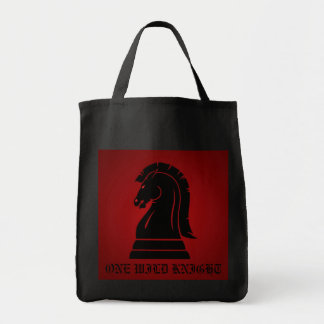 One Wild Knight Red Chess Trick or Treat Bag