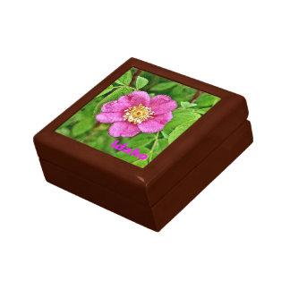 One Wild Rose - Idaho Small Square Gift Box