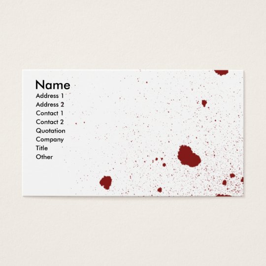 One will Die Business Card