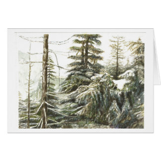 One Wintery Forest Greeting Card