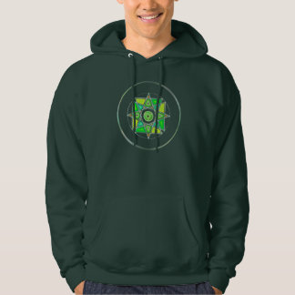 """One With Earth"" Stained Glass Mandala Hoodie"