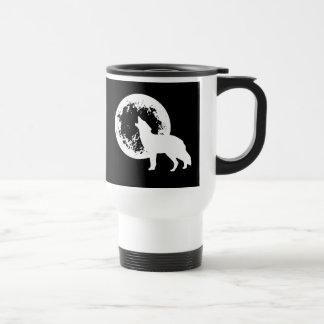 One Wolf Moon Travel Mug