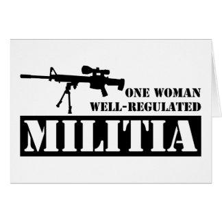 One Woman Well Regulated Militia Greeting Card