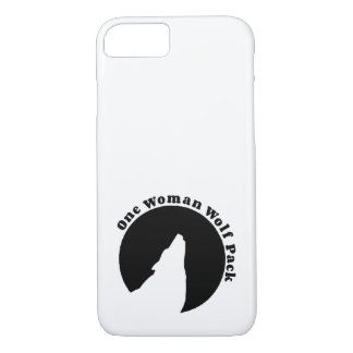 One Woman Wolf Pack in Black iPhone 7 Case