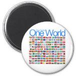 One World 6 Cm Round Magnet