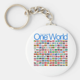 One World Basic Round Button Key Ring