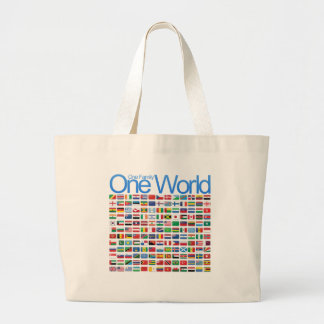 One World Large Tote Bag