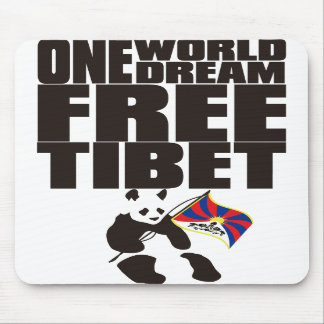 ONE WORLD ONE DREAM FREE TIBET MOUSE MATS