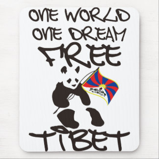 ONE WORLD ONE DREAM FREE TIBET MOUSE PAD