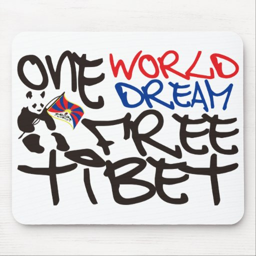 ONE WORLD ONE DREAM FREE TIBET MOUSE PADS
