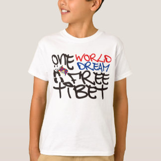 ONE WORLD ONE DREAM FREE TIBET T-Shirt