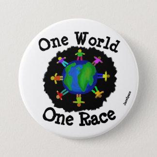 One World, One Race 7.5 Cm Round Badge