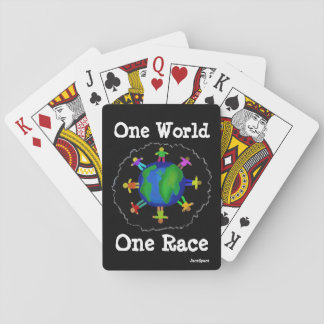 One World, One Race Playing Cards