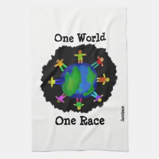 One World, One Race Towels