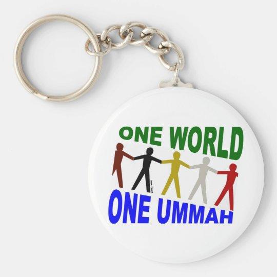 One World One Ummah Basic Round Button Key Ring