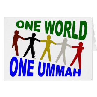 One World One Ummah Greeting Card