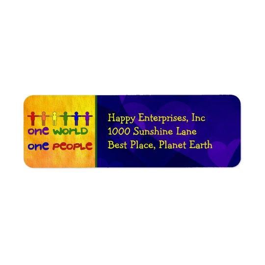 One World Return Address Label