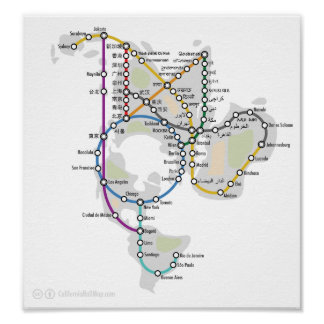 Subway map posters prints zazzle one world subway poster gumiabroncs Gallery