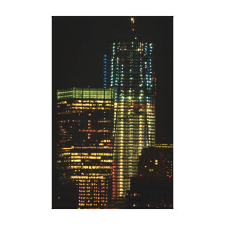 One World Trade lit in Red White & Blue Sept 2011 Gallery Wrap Canvas