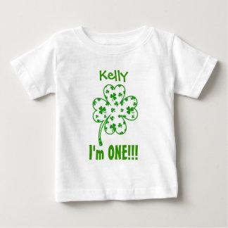 One Year 1st Birthday Lucky Shamrock V08 Baby T-Shirt